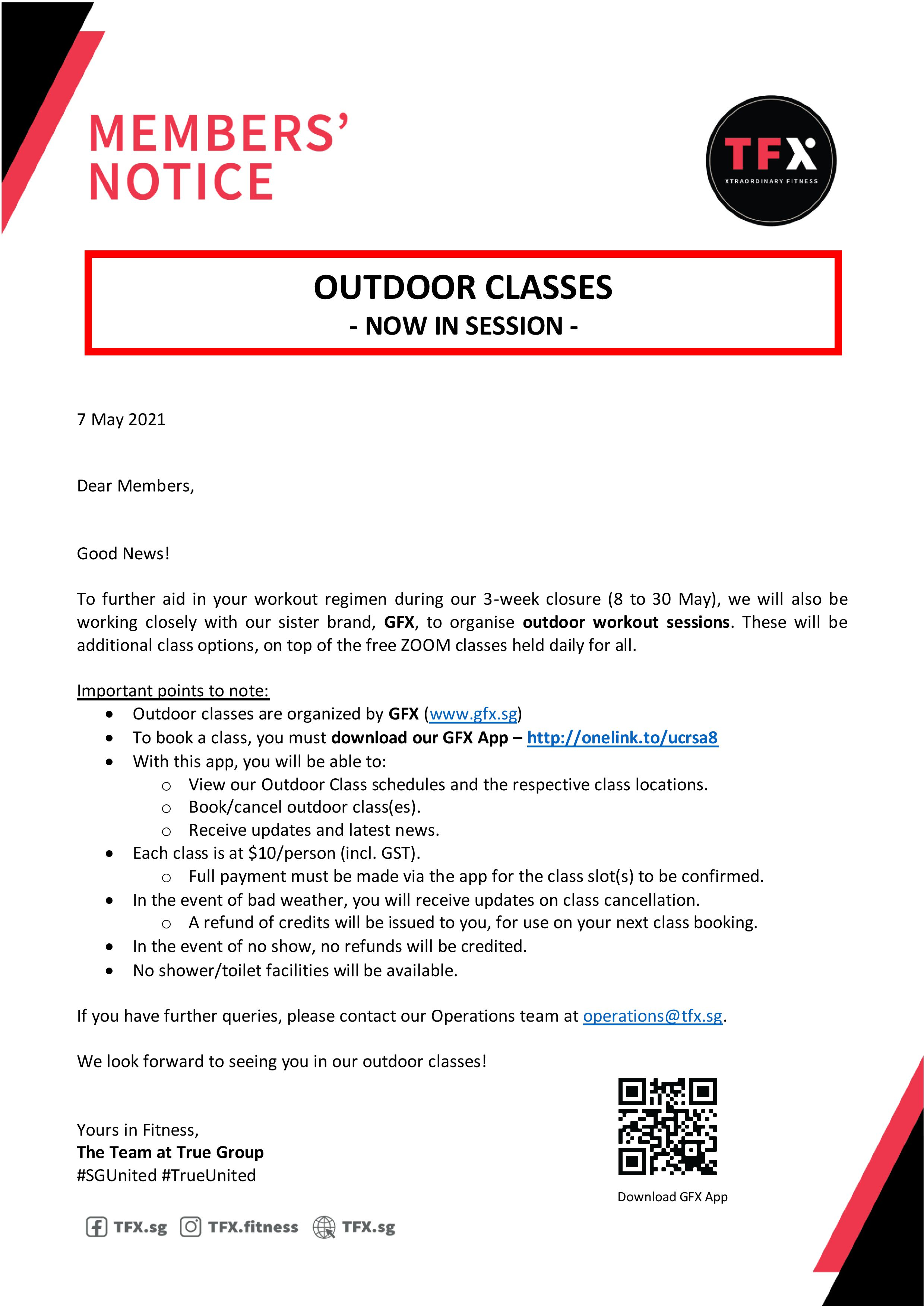 Outdoor classes by GFX